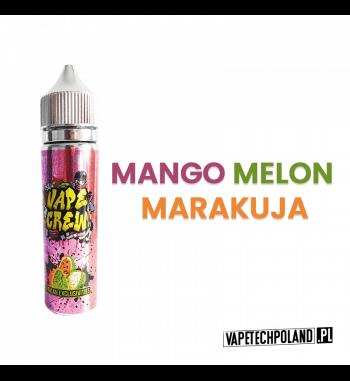 Premix VAPE CREW - AFRICAN EXCLUSIVITES 50ML Egzotyczny smak owoców takich jak mango,melon i marakuja.50ml płynu w butelce o