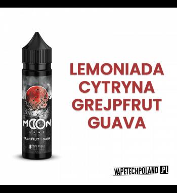 Premix VAPETECHPOLAND MOON LINE - Red MOON 40ML RedMoon - Lemoniada z cytryny I grejpfruta z dodatkiem słodkiej guavy i... nas