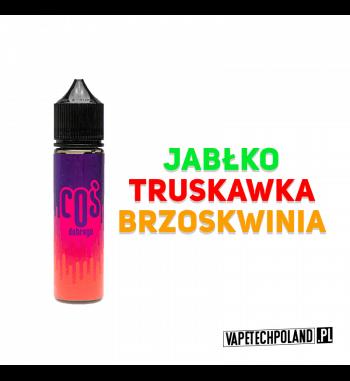 PREMIX COŚ Dobrego 50ml Premix o smaku jabłka, truskawki oraz brzoskwini 50ml płynu w butelce o pojemności 60ml.Produkt Shake