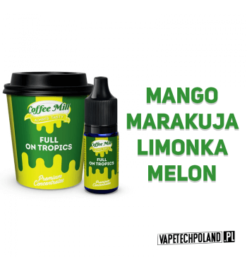 Aromat Coffee Mill 10ML - Full On Tropics Aromat o smaku mango, marakui, limonki i melona. Pojemność : 10ML 2