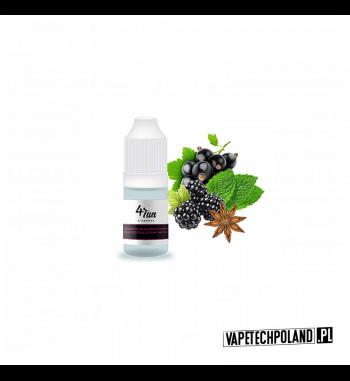 Aromat 4FUN 10ml - Czarna Porzeczka/Jeżyna/Anyż Aromat o smakuczarnej porzeczki, anyżu i jeżyny. Pojemność : 10ML 1