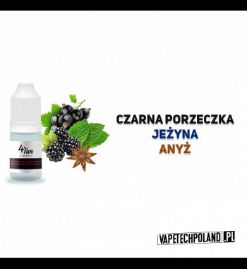 Aromat 4FUN 10ml - Czarna Porzeczka/Jeżyna/Anyż Aromat o smakuczarnej porzeczki, anyżu i jeżyny. Pojemność : 10ML 2