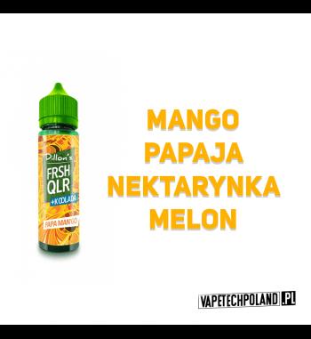 Premix DILLONS FRSH QLR 50ML - PAPA MAN'GO Premix o smaku mango, papai, nektarynki oraz melona. 50ml płynu w butelce o pojemnoś