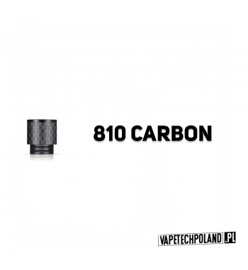 Drip Tip / Ustnik 810 CARBON Ustnik 810 CarbonDo ustnika pasująnp. Eleaf Ijust 3 / ECM Zestaw / Smok Stick Prince / P25