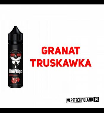 Premix DON VAPO - Granat / Truskawka 50ml Premix owocowy z granatem i truskawką. 50ml płynu w butelce o pojemności 60ml.Produ