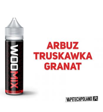 PREMIX WOOMIX 50ML - FURIOUS EXPLOSION Arbuz z truskawką i granatem 50ml płynu w butelce o pojemności 60ml.Produkt Shake and