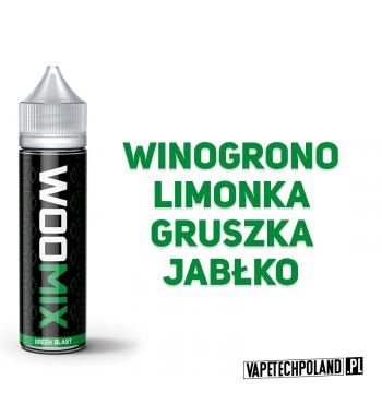 PREMIX WOOMIX 50ML - GREEN BLAST Winogrono z limonką, gruszką i jabłkiem 50ml płynu w butelce o pojemności 60ml. Produkt Shake
