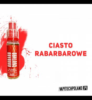 LOS AROMATOS DOUBLE 15ML - Rhubarb Custard Aromat o smakuciasta z rabarbarem. Butelka posiada plombę zabezpieczającą oraz dozo