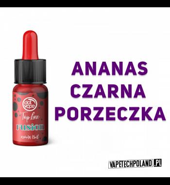 Aromat Top Line - FUSION 15ml Aromat o smakuananasa z czarną porzeczką.  Sugerowane dozowanie: 7-15% Pojemność: 15ml 2