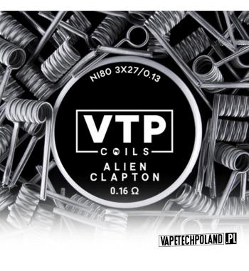 VTP COILS - ALIEN CLAPTON 0.16Ω Produkt VAPETECHPOLAND, grzałka ALIEN CLAPTON. Zestaw zawiera 2szt. 3x27G/36G - TMN80 - 0.16Ω 1