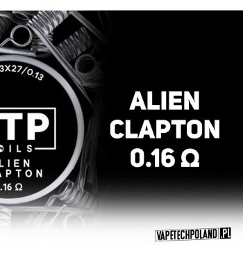VTP COILS - ALIEN CLAPTON 0.16Ω Produkt VAPETECHPOLAND, grzałka ALIEN CLAPTON. Zestaw zawiera 2szt. 3x27G/36G - TMN80 - 0.16Ω 2