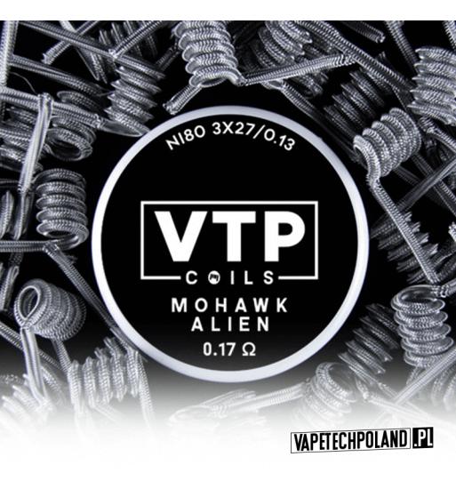 VTP COILS - MOHAWK ALIEN 0.17Ω Produkt VAPETECHPOLAND - grzałka MOHAWK ALIEN. Zestaw zawiera 2szt. 3x27G/36G - TMN80 - 0.17Ω 1