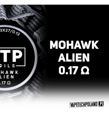 VTP COILS - MOHAWK ALIEN 0.17Ω Produkt VAPETECHPOLAND - grzałka MOHAWK ALIEN. Zestaw zawiera 2szt. 3x27G/36G - TMN80 - 0.17Ω 2
