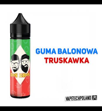 PREMIX DOS BROS - GUMA BALONOWA&TRUSKAWKA 40ML Premix o smaku gumy balonowej z truskawką.40ml płynu w butelce o pojemności 60