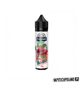 Premix RADLER 40ml - Lemoniada&Malina&Jagoda Premix o smaku truskawki, jabłka i mięty. 40ml płynu w butelce o pojemności 60ml.