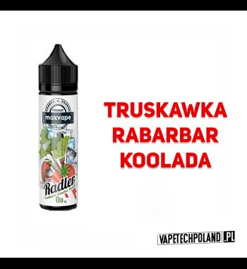 Premix RADLER 40ml - Truskawka&Rabarbar&Koolada Premix o smaku truskawki, rabarbaru i koolady. 40ml płynu w butelce o pojemnośc