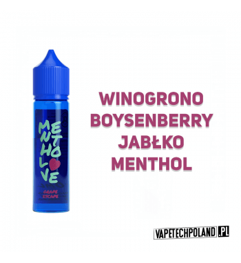 Premix Mentho LOVE - Grape Escape 40ml Premix o smakuwinogrona, boysenberry, jabłkaz mentolem.40ml płynu w butelce o pojemn