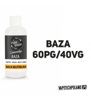 BAZA SMOOKE 100ML - 60PG/40VG 0MG Świetna baza marki SMOOKE. 100ML bazy neutralnej 60/40 0mg.By uzyskać bazę nikotynową należ