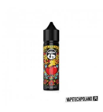 PREMIX HIGH5 T-MIX - LOVE AND HATE 40ml Premix o smakuwiśni z wanilią.40ml płynu w butelce o pojemności 60ml.Produkt Shake