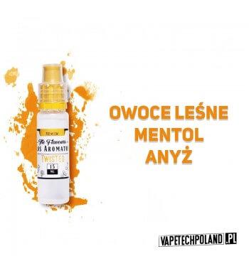 LOS AROMATOS PREMIUM 15ML - TWISTED Aromat o smaku owoców leśnych z mentolem oraz dodatkiem anyżu.  Sugerowane dozowanie: 7-15