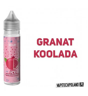 Premix SOLO - ICE Pomegranate 40ML Premix o smakugranatuz kooladą. 40ml płynu w butelce o pojemności 60ml. Produkt Shake and