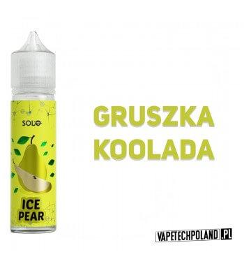 Premix SOLO - ICE Pear 40ML Premix o smaku gruszkiz kooladą. 40ml płynu w butelce o pojemności 60ml. Produkt Shake and Vape pr