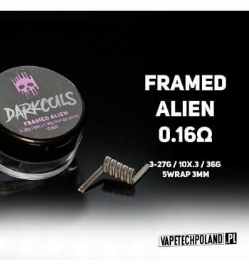 DARK COILS - FRAMED ALIEN 0.16Ω (1szt.) Produkt VAPETECHPOLAND - grzałka FRAMED ALIEN. Zestaw zawiera 1szt. 3x27G/10x.3/36 - TM