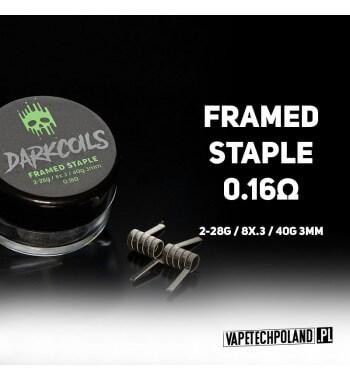 VTP COILS - FRAMED STAMPLE 0.16Ω (3szt.) Produkt VAPETECHPOLAND - grzałkaFRAMED STAMPLE. Zestaw zawiera 3szt. 2x28G/8x.3/40 -