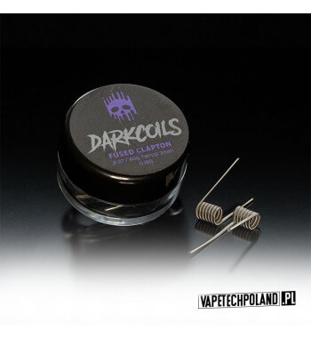DARK COILS - FUSED CLAPTON 0.18Ω (3szt.) Produkt VAPETECHPOLAND - grzałkaFUSED CLAPTON. Zestaw zawiera 3szt. 3x27G/40G - TMN80
