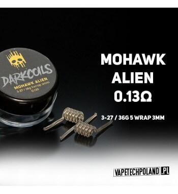 DARK COILS - MOHAWK ALIEN 0.13Ω (3szt.) Produkt VAPETECHPOLAND - grzałka MOHAWK ALIEN. Zestaw zawiera 3szt. 3x27G/36G - TMN80 -