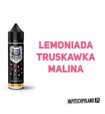 Premix FRUIT CLOUD - Summer LEMONADE 40ML Premix o smakulemoniady truskawkowej z maliną.40ml płynu w butelce o pojemności 60