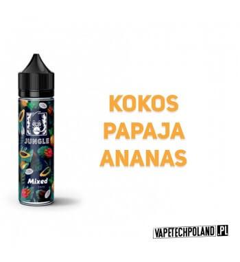 Premix JUNGLE - Mixed 40ml Premix o smakukokosa, papai i ananasa.40ml płynu w butelce o pojemności 60ml.Produkt Shake and