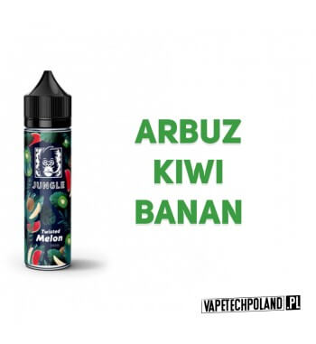 Premix JUNGLE - Twisted MELON 40ml Premix o smakuarbuza z kiwi i bananem.40ml płynu w butelce o pojemności 60ml.Produkt Sh