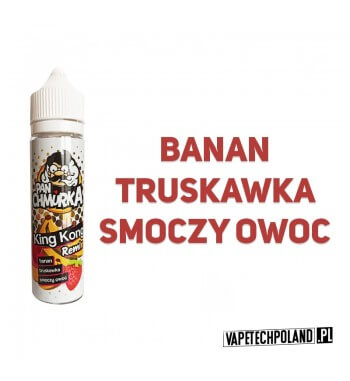 Premix PAN CHMURKA - King Kong 50ML Premixo smakubanana z truskawką i smoczym owocem.50ml płynu w butelce o pojemności 60ml