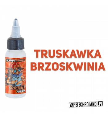 Premix VAPENATION - COCTAIL 20ML Pyszny koktail o smaku truskawki i brzoskwini! 20ml płynu w butelce o pojemności 30ml.Produk