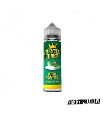 Premix Jungle Juice - Ostry Menthol 40ML Premix o smaku mentolu.40ml płynu w butelce o pojemności 60ml.Produkt Shake and Va