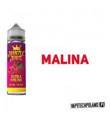 Premix Jungle Juice - Słodka Malina 40ML Premix o smakumaliny.40ml płynu w butelce o pojemności 60ml.Produkt Shake and Vap