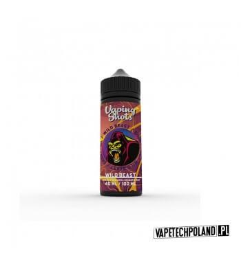 Premix Vaping Shots - Wild Beast 40ML Premix o smaku jabłka z truskawką i brzoskwinią.40ml płynu w butelce o pojemności 60ml.