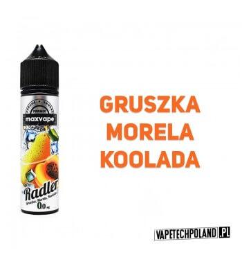 Premix RADLER 40ml - Gruska&Morela&Koolada Premix o smakugruszki z morelą i kooladą. 40ml płynu w butelce o pojemności 60ml.