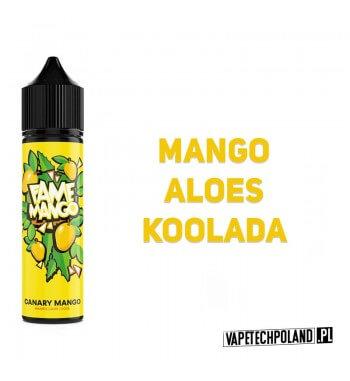 Premix FAME MANGO - Canary Mango 40ML Premix o smaku mango zaloesem i kooladą. 40ml płynu w butelce o pojemności 60ml.Produk