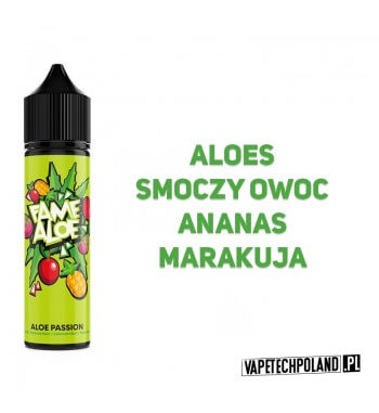 Premix FAME ALOE - Aloe Passion 40ML Premix o smaku aloesu ze smoczym owocem, anansem i marakują. 40ml płynu w butelce o pojemn