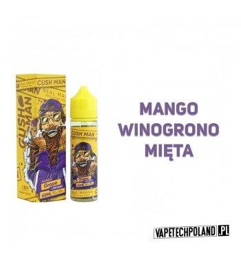 Premix Nasty Juice KUSH MAN - Mango & Grape Premixo smakumango zwinogronem i miętą. 50ml płynu w butelce o pojemności 60ml