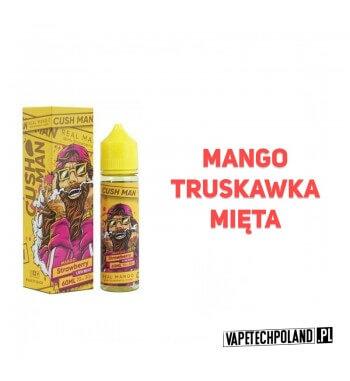 Premix Nasty Juice KUSH MAN - Mango & Strawberry Premixo smakumango ztruskawką i miętą. 50ml płynu w butelce o pojemności 60