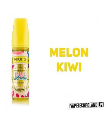 DINNER LADY - Melon Twist 50ML Premix o smaku melona i kiwi. 50ml płynu w butelce o pojemności 60ml. Produkt Shake and Vape prz