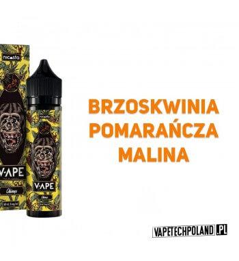 Premix V-APE - CHIMP 40ML Premix o smaku brzoskwini z pomarańczą i maliną. 40ml płynu w butelce o pojemności 60ml. Produkt Shak