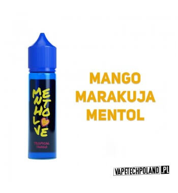 Premix MenthoLOVE - Tropical Tango 40ml Premix o smakumango, marakuii mentolu.40ml płynu w butelce o pojemności 60ml.Prod