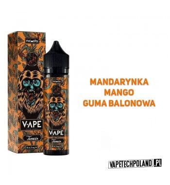 Premix V-APE - TAMAIN 40ML Premix o smaku mandarynki z mango i gumą balonową. 40ml płynu w butelce o pojemności 60ml. Produkt S