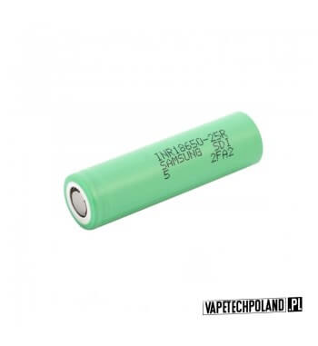 Akumulator Samsung 25R 18650 2500MAH 20A Oryginalny akumulator samsung 25R o pojemności 2500MAH/20A. 1
