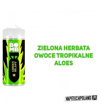 Premix THE BOMB - Green Blast 40ML Premix o smaku zielonej herbaty z owocami tropikalnymi i aloesem. 40ml płynu w butelce o po