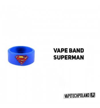 VAPE BAND - Silikonowa Opaska - SUPERMAN Silikonowa opaska,która pozwoli ochronić twojego e-papierosa przed upadkiem! W zestawi